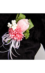 Tulip Wedding/Party Boutonniere with Rhinestone for the Groomsman and Bridesmaid(9*12CM)