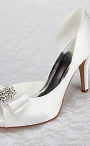 Chaussures Femme - Mariage / Bureau & Travail / Habillé / Décontracté / Soirée & Evénement - Blanc - Talon Aiguille -Talons / Bout Ouvert