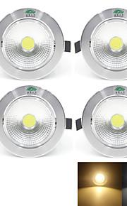 7W / 12W Plafondlampen 1 COB 700 lm Warm wit / Natuurlijk wit Decoratief AC 85-265 V 4 stuks