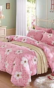 vaaleanpunainen kukka puuvilla vuodevaatteet sarja 4kpl neljä vuodenaikaa käyttö