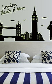 Arkitektur Wall Stickers Väggstickers Flygplan , Other(Other) 60*90cm( Any Layout)