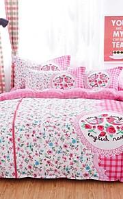 vaaleanpunainen kukka / bird vuodevaatteet sarja 4kpl neljän vuodenajan käyttöön
