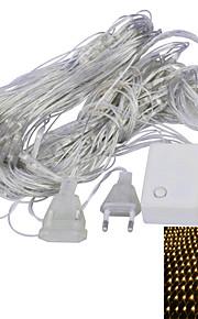 JIAWEN® 1.5 M 96 LED Dip Blanc chaud / Violet Connectible 4 W Guirlandes Lumineuses AC220 V