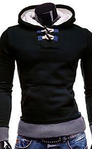 Masculino Sets activewear Casual / Esporte Cor Solida Elastano Manga Comprida Masculino