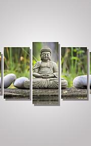 toile set Paysage Personnage Moderne,Cinq Panneaux Horizontale Imprimer Art Décoration murale For Décoration d'intérieur