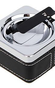 moda europea cenicero portátil universal para el uso del coche negro (colores surtidos)