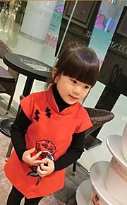 Girl's Red Wool Vest Dress , Dresswear Others Winter / Fall
