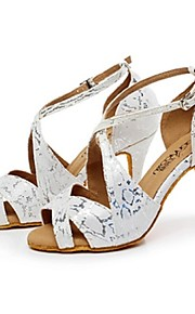 Zapatos de baile ( Plata ) - Danza latina - Personalizados - Tacón Personalizado