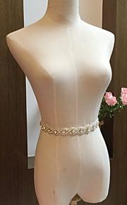 여성용 허리 장식띠 창틀 쉬폰 웨딩 / 파티/이브닝 비즈 / 모조 다이아몬드