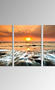 Abstrakt / Fantasie / Freizeit / Landschaft / Modern / Romantisch / Pop Art Leinwand drucken Drei Paneele Fertig zum Aufhängen , Vertikal