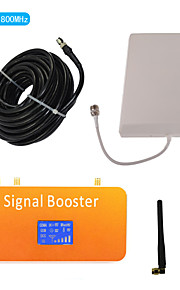 New LCD Display DCS 1800MHz Mobile Phone Signal Booster with Whip and Panel Antenna Kit Coverage 500m²