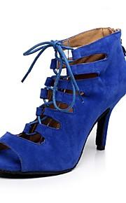 Zapatos de baile ( Azul / Rojo ) - Danza latina - No Personalizable - Tacón de estilete