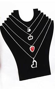 affichage collier pendentif en velours noir 23 * 24 * 7cm