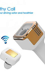 tinpec 3.1a Dobbelt USB bil oplader med bluetooth headset og ilt bar bedste trådløse øresnegl