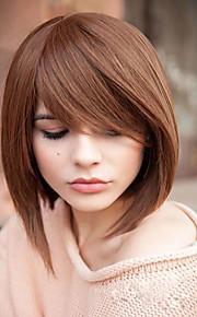 прекрасный средний прямой шапки девственница Remy человека рука привязана-топ волос парики