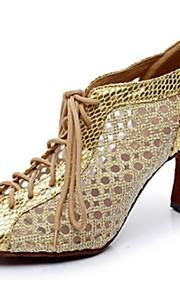 Zapatos de baile ( Negro / Plata / Oro ) - Danza latina - No Personalizable - Tacón Luis XV