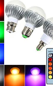 Ampoules Globe LED Gradable / Commandée à Distance / Décorative RGB YWXLight 1 pièce B E14 / B22 / E26/E27 5W 3 LED Haute Puissance 400 lm