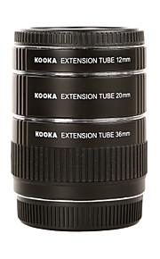 עדשת המצלמה SLR KK-o68 צינורות הארכת מאקרו AF מתכת kooka (36mm 20mm 12mm) לOlympus OM 4/3 תקריב צילום