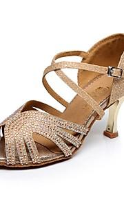 Zapatos de baile ( Azul / Oro ) - Danza latina - No Personalizable - Tacón Luis XV