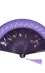 Silk Fans and parasols - 1 Piece/Set Hand Fans Garden Theme / Floral Theme / Butterfly Theme / Classic Theme Blue
