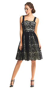 TS Couture® Cocktail Party Dress A-line Straps Knee-length Lace with Lace