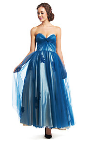 TS Couture® Formal Evening Dress A-line Sweetheart Ankle-length Tulle with Criss Cross