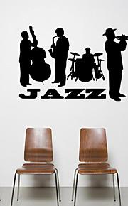 Musique / Forme / Personnes Stickers muraux Stickers avion,VINYL 57*53cm