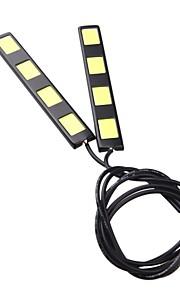 2 stuks 12cm 8w cob 4 geleid auto dagrijlichten bar DRL rijden lamp (12V)