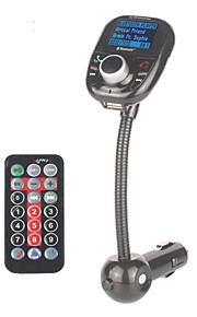 auto mp3-audio-speler bluetooth fm-zender met draadloze fm modulator carkit handsfree lcd scherm usb-oplader