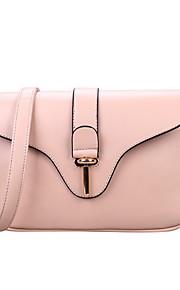 Women PU Baguette Shoulder Bag - Beige / Red