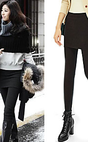 Women's Solid Black/Dark Grey Two Piece Bodycon Slimming Stretchy Leggings