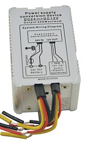 metalen omhulsel dc 24v input voor 12v uitgang 5a 6 draden voeding converter 60w