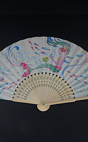 High Quality Paper Fans and parasols - 4 Piece/Set Hand Fans Asian Theme / Fairytale Theme Red / Pink / Blue