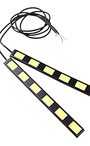2 stuks 18cm 12W cob 6 geleid auto dagrijlichten bar DRL rijden lamp (12V)