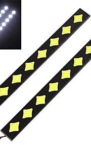2 stuks 8w cob 20cm 700LM blauw / wit / ijs blauw licht LED-dagrijlichten (12V)