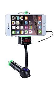 bil audio musik afspiller FM-sender med telefonholder trådløs LED display FM-frekvens håndfri funktion USB-oplader