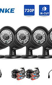 annke® pakket ny ahd 720p udendørs cctv kamera kits vejrbestandig hjem sikringssystem, 100ft super nattesyn