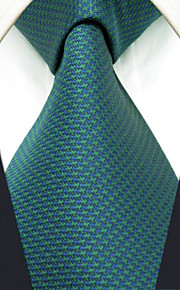 Men's Tie Green Dots Fashion 100% Silk  Business