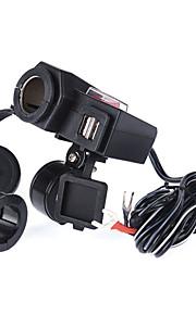 iztoss 5v 12v motor dual usb-poort waterdicht sigaret oplader adapter zonder sigaret functie