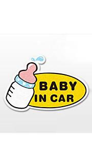 funny baby in auto sticker autoraam muurstickers auto styling (1st)