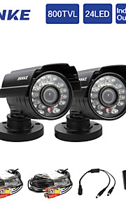 annke® 2 stuks 800tvl ir cut 24ir 960H binnenlandse veiligheid surveillance CCTV-camera's