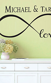 4090 Drawing You And Your Darling Name Wall Sticker Decoration Romantic DIY Art Wall Sticker Mural Decals Home Removable