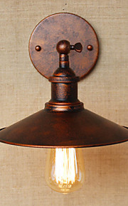 Minimalist Industrial-Style Villa In Front Of The Church Aisle Nostalgic Umbrella Red Bronze Decorative Wall Sconce