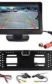 Rear View Camera - Compatibile con qualsiasi modello di auto - Sensore CCD da 1/4 di pollice - 170° - 480 linee tv disponibili