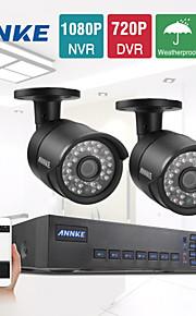 annke® 4ch 960H 720p 1200tvl netwerk dvr CCTV-video-surveillance beveiligingscamera's systeem