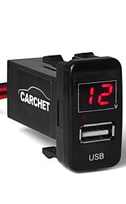 socket USB-poort opladen duurt mobiele voltmeter, DC 12V auto toyota