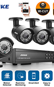 annke® 16ch hd 1080p dvr hdmi 4 stuks outdoor ir home video bewakingscamera