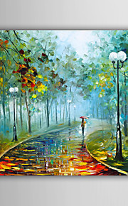 Hand-Painted Abstract / Landscape / Fantasy / Abstract Landscape European Style Oil Painting,Canvas One Panel