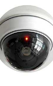 kingneo 1pc wit fake dummy dome cctv bewakingscamera met knipperende rode led licht voor huis of kantoor mall