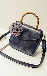 Фиолетовый / Серый / Черный-Сумка на плечо / Сумка-шоппер-Для женщин-Полиуретан-Сумочка Багет